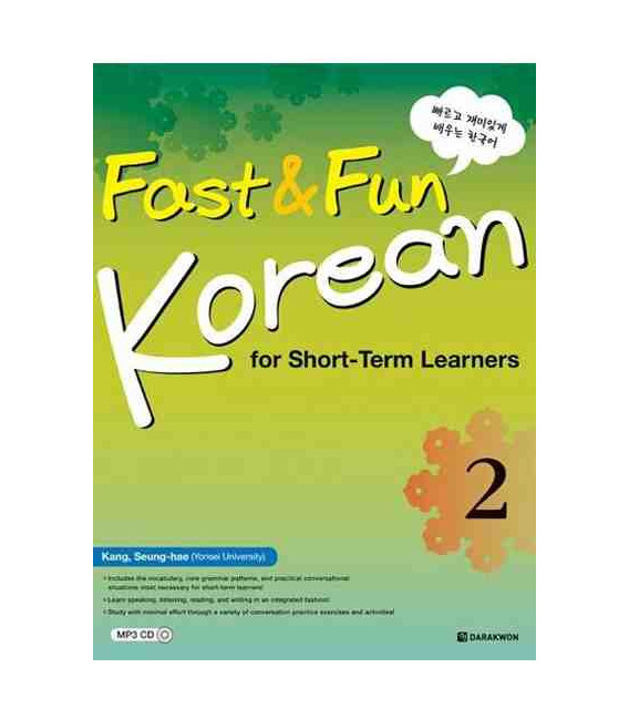 Fast & Fun Korean for Short-Term Learners 2- Incluye CD MP3