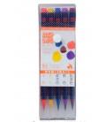 Akashiya Watercolor Brush Pen Sai 5 Colors Set (Autumn)