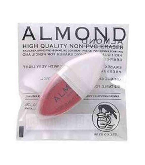 Seed Eraser Almond - Goma de lápiz y tinta de calidad superior (Sin PVC)- importado de Japón